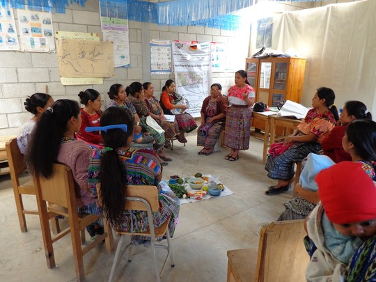 Women's education class in session