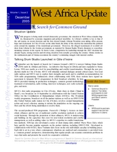 Search For Common Ground, West Africa Update, December 2005 (PDF)