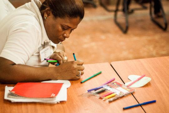 Woman participates in a CAPTA workshop