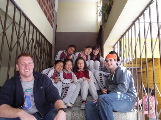University of Florida Volunteers with students