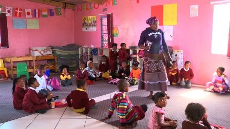 One of the pre-schools supported by Ikamva Labantu