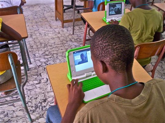 Summer technology camp - exploring mini laptops