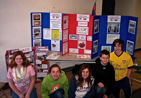 Palmyra students promoting our project at events