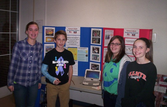 Palmyra students promoting our project