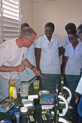 Palmyra staff member conducting training in Haiti