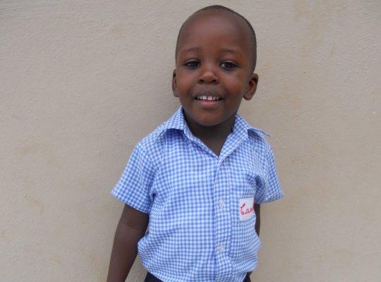 Carl, our sponsored kindergarten student