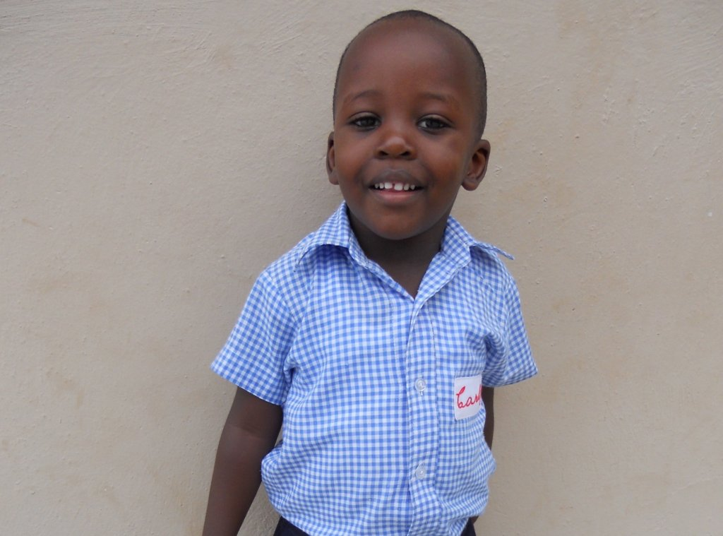 Carl, our sponsored kindergarten student