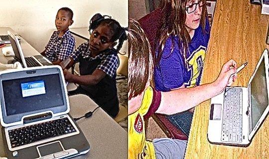 Our students explore the versatile Classmate PC.