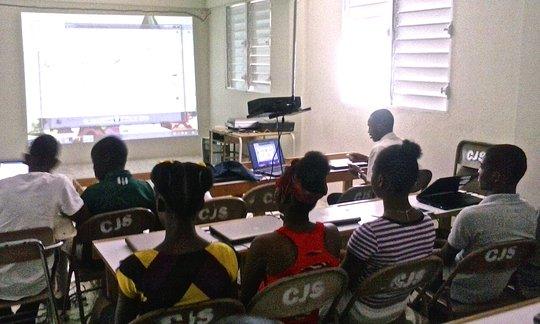 Student led wiki work in Haiti