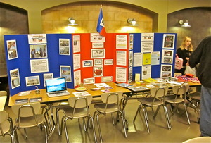 Our booth at the Palmyra Pride Showcase