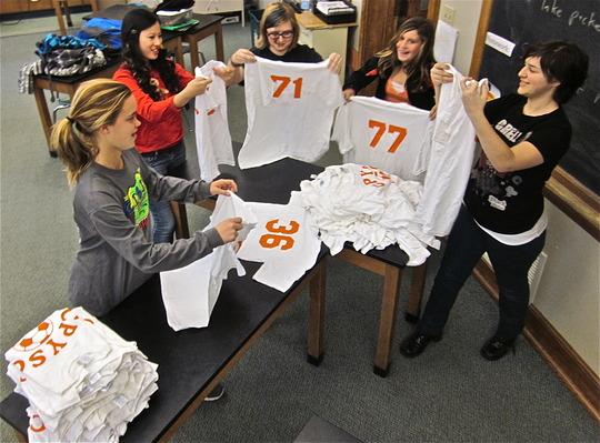 Sorting soccer uniforms