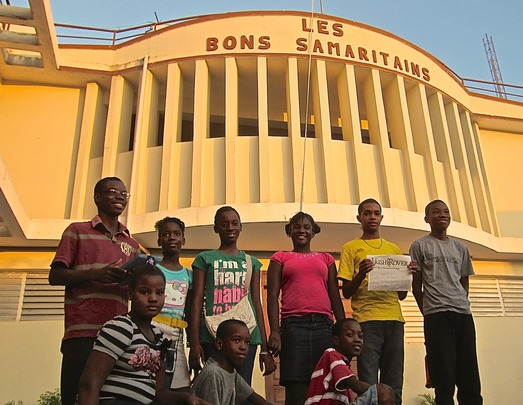 The technology club at Les Bons Samaritains