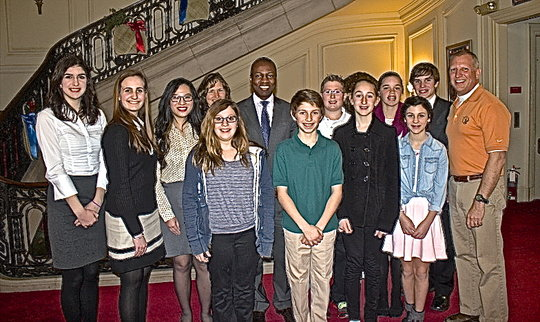 Palmyra students and his Excellency, Paul Altidor