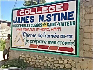 Bilboard for the new James Stine College