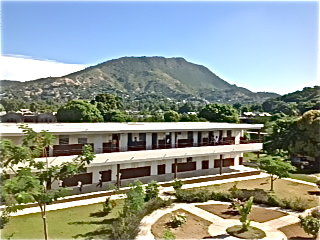A view from the top of James Stine College