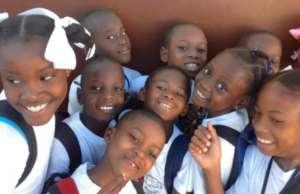 Enthusiastic students at Les Bons Samaritains