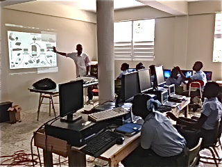 An active class in our computer room