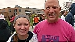 Alumni project member Nicole with me at the HHH5K