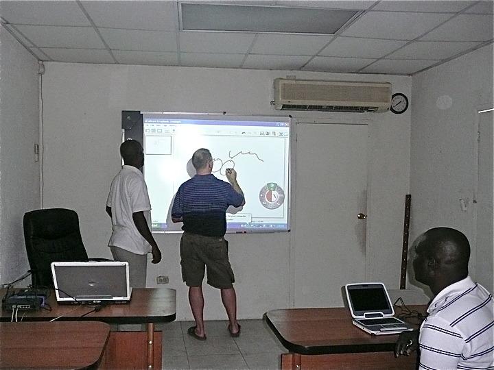 Interactive board training in Haiti.
