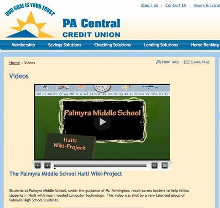 A video blog made by our Palmyra students