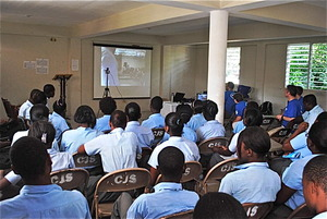 Our Skype session on the Haiti side