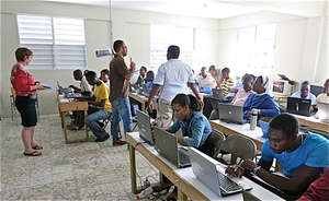 IESC team conducting a teacher training session