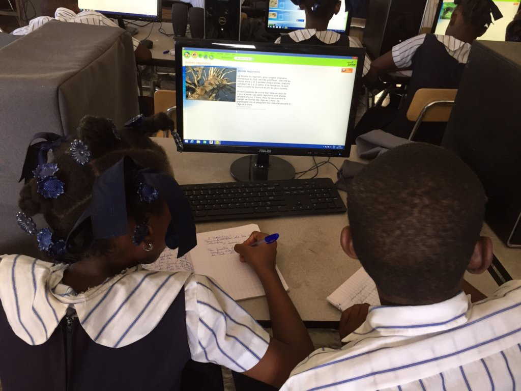 Our students learning through technology access