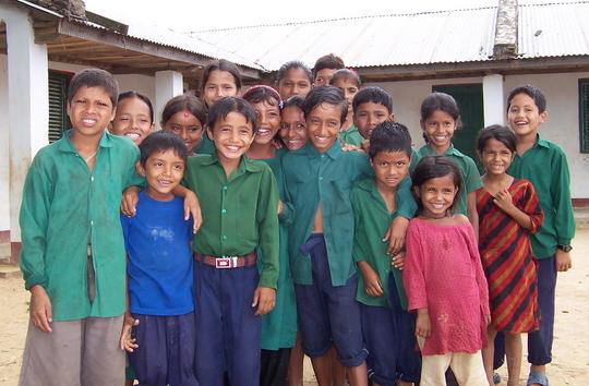 Children served by Gadhi bridge