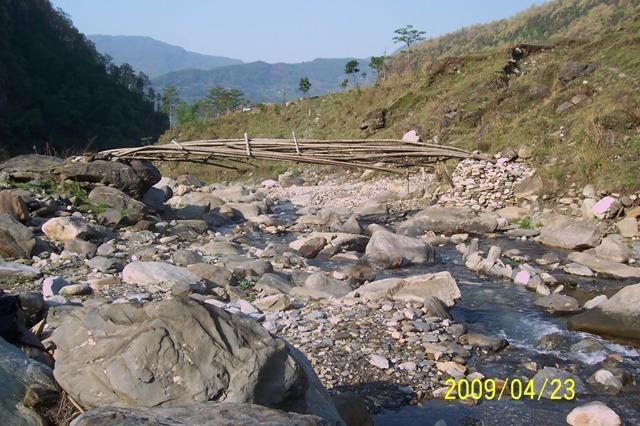 The existing bridge to school