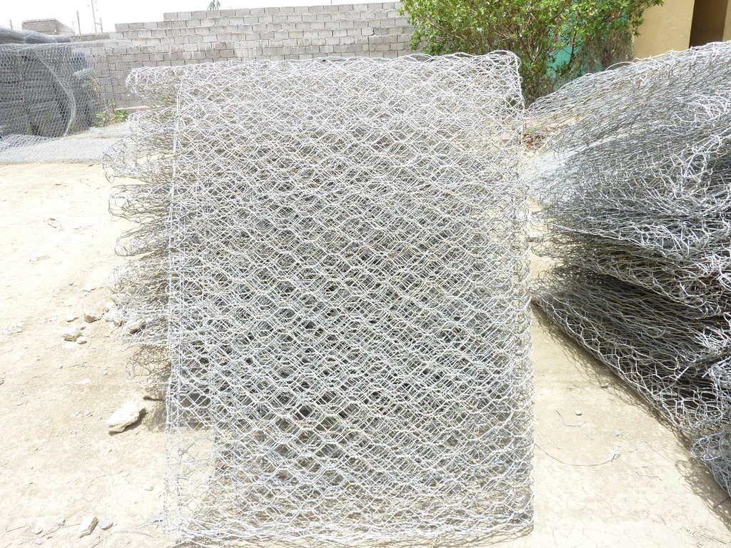 gabion wires to build check dams