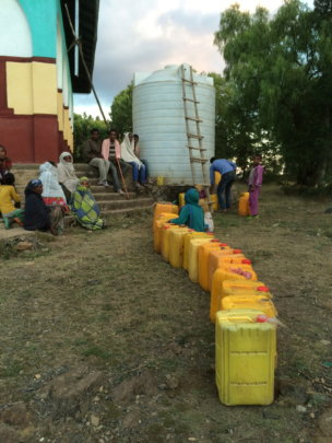 tankers being used for water distribution