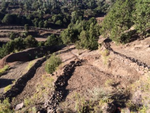 terracing in atebes, tigray, ethiopia