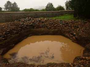 Water harvesting system interrupted by rain