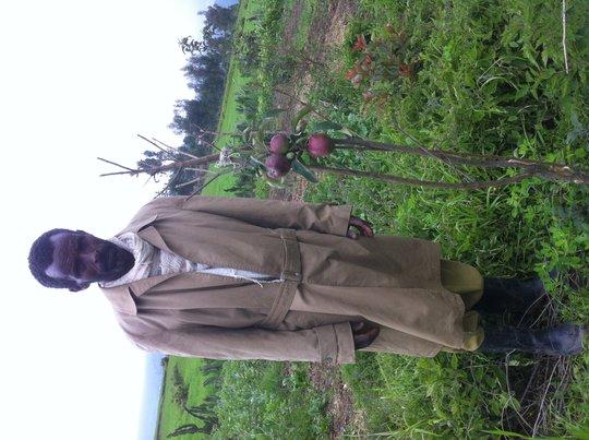 Hailemariam and his garden