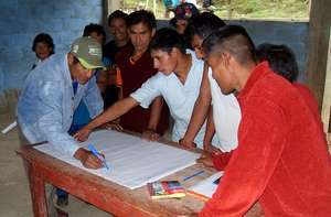 Men of the community mapping the region