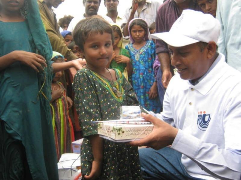 Children happy to get EID gift
