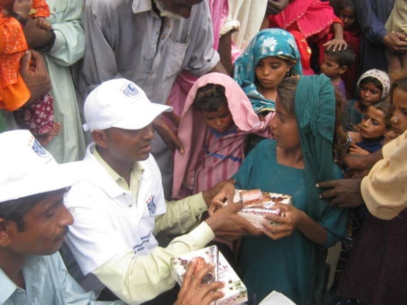 AHD team visits door to door for gift distribution