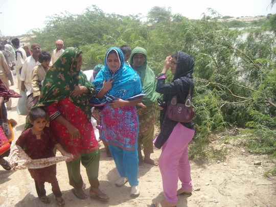 AHD female staff helped women to resuce