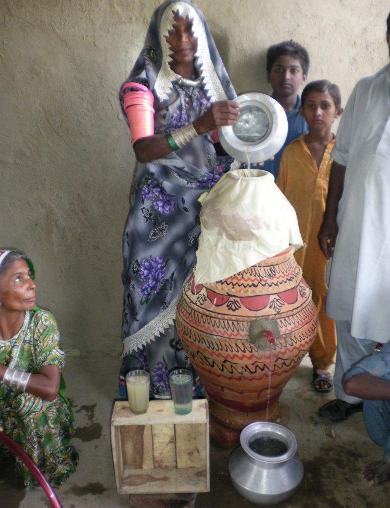 A women using Nadi filter units