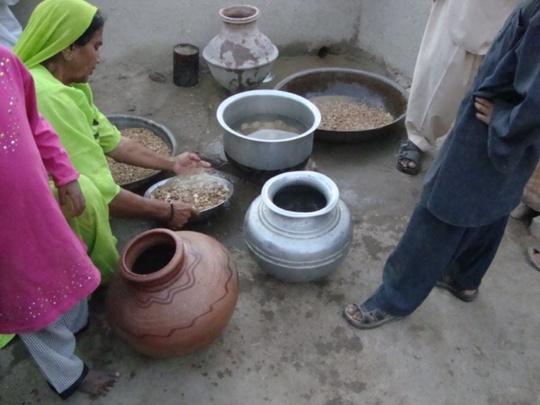 A family from Tando Hafiz Shah village