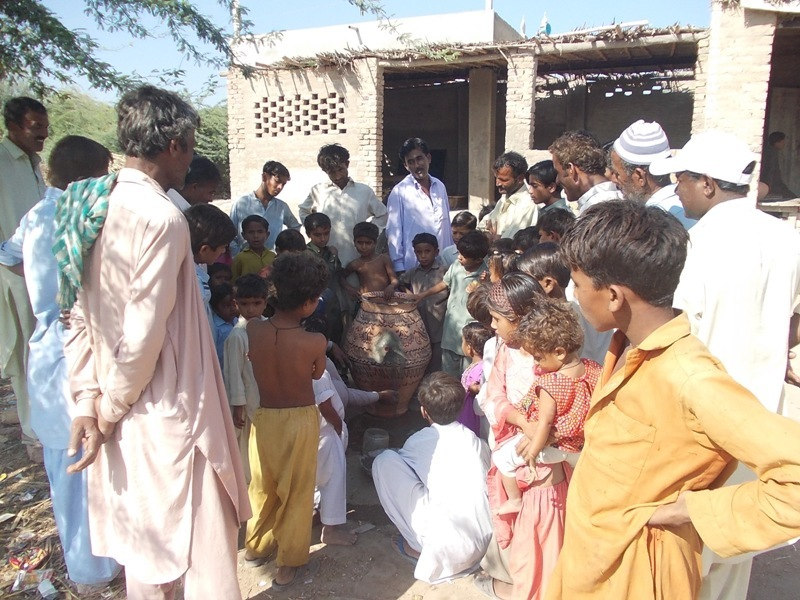 TOT Nadi filter training Village Muharam Khaskheli