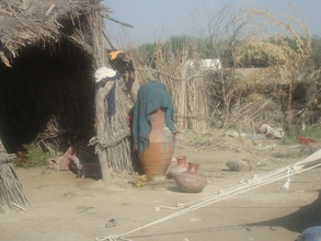 Clean water good for flood affected family health