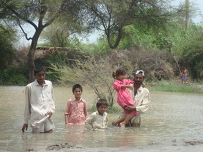 The families been rescued from the villages