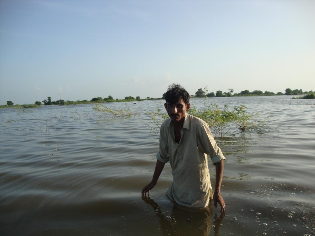 4-5 feet rain water in cropped lands