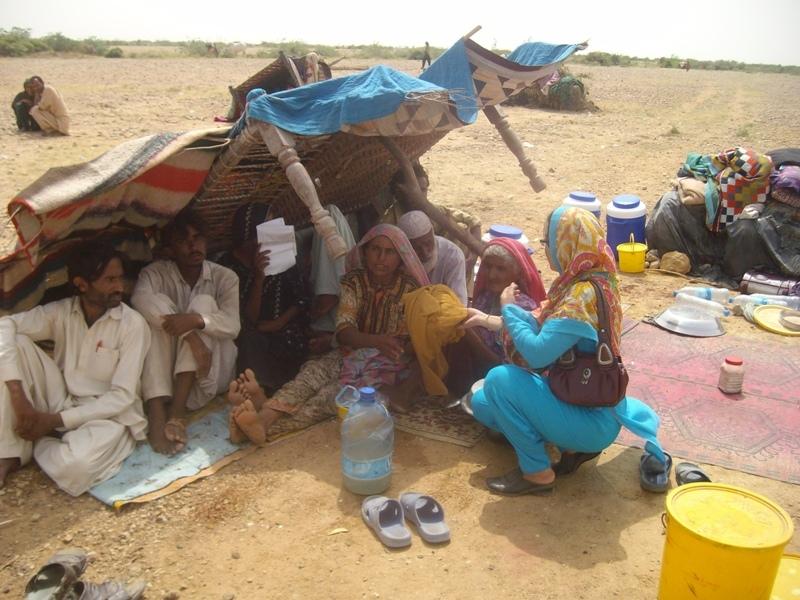 Sajida during Nadi filter & Mosquito net provision