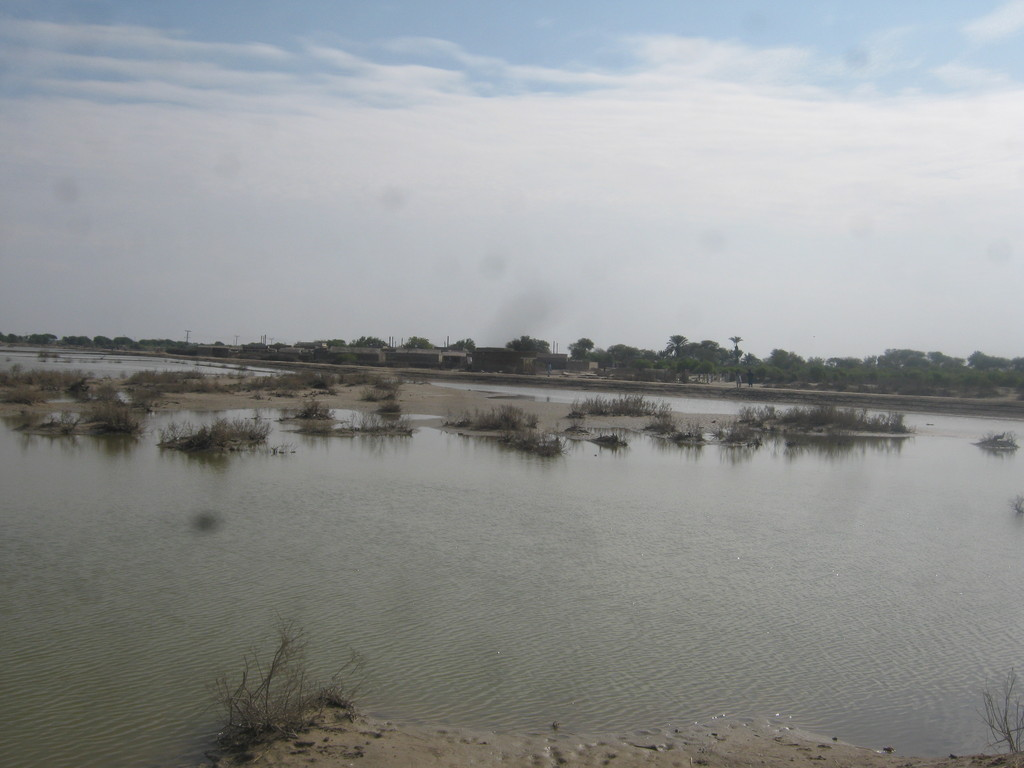 Flood water in villages of Jati area needs