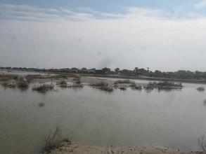 Flood water in villages of Jati area needs