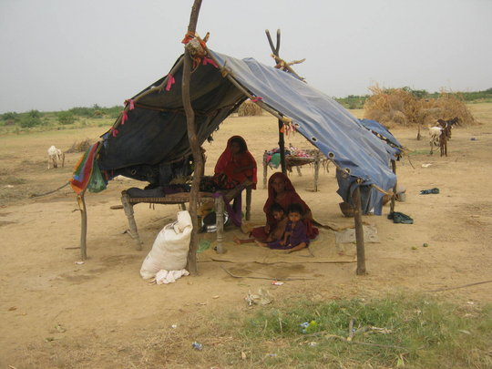 Poor living of IDPs