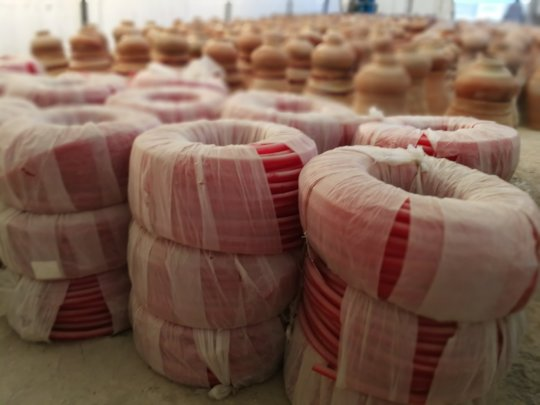 Plastic Pipe stored for 15,000 Nadi filter units