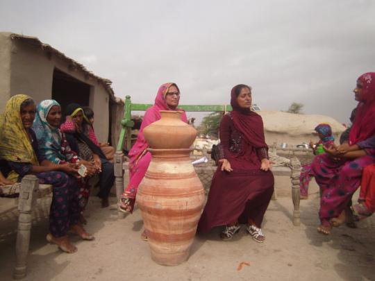 women installed new Nadi filter
